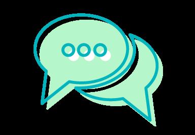 Pictogramme représentant l'échange et la communication