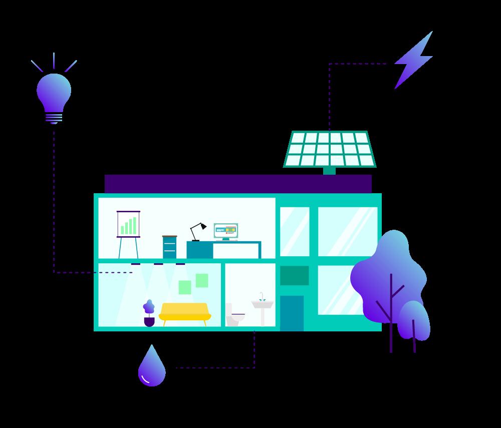 Illustration représentant la performance énergétique d'un bâtiment