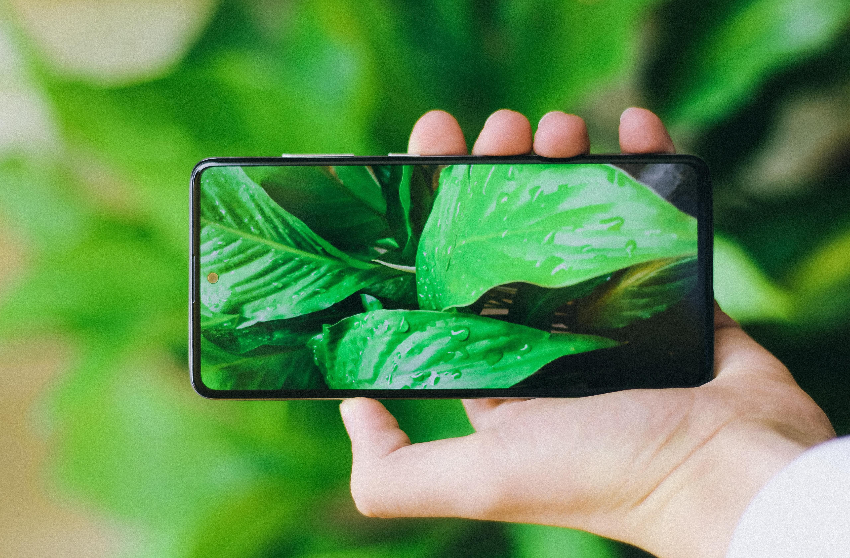 Photo d'un mobile green représentant les green tech vertes